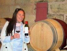 Paige tasting in the cellars of Chateau Lafleur Pomerol May 2015 photo copyright Paige Donner IMG_2053 (2)